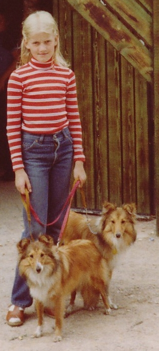Nanna with Trixie (front) and Tanya